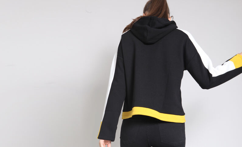 Sweat à capuche sporty noir