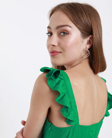 Combishort volanté vert