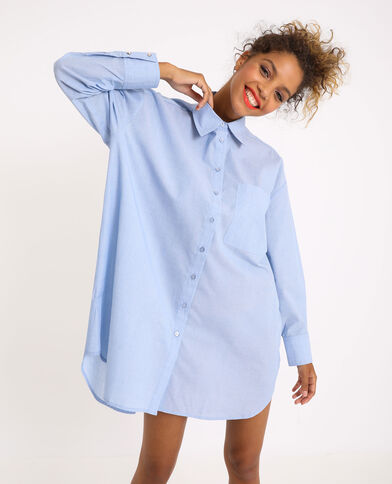 Oversized hemd hemelsblauw