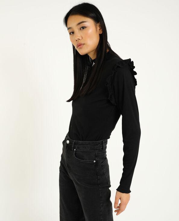 Shirt met lange mouwen zwart - Pimkie