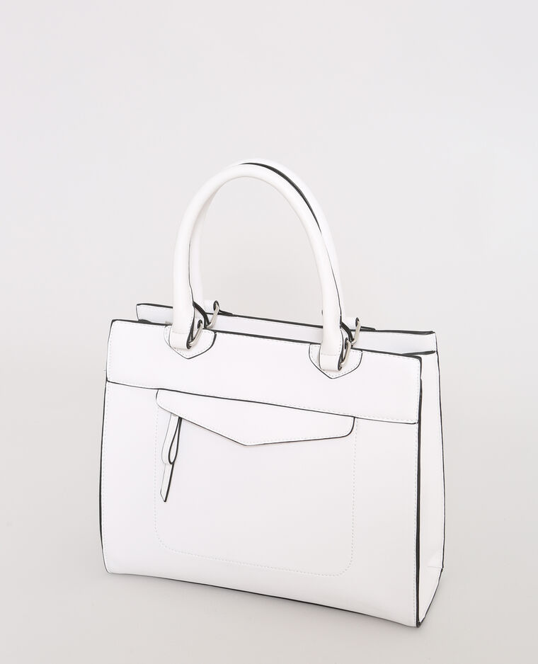 Harde tas gebroken wit