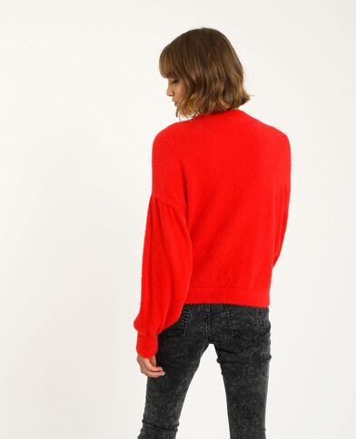 Vest met glanzende knopen rood