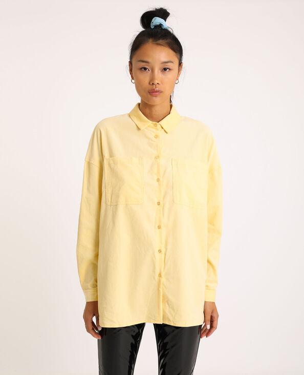 Chemise oversized en velours jaune