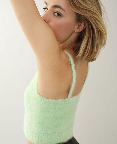 Behatop van zacht tricot groen - Pimkie