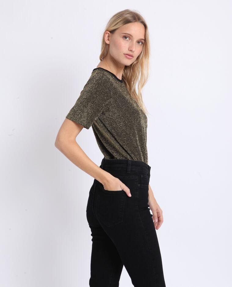 T-shirt glitter noir