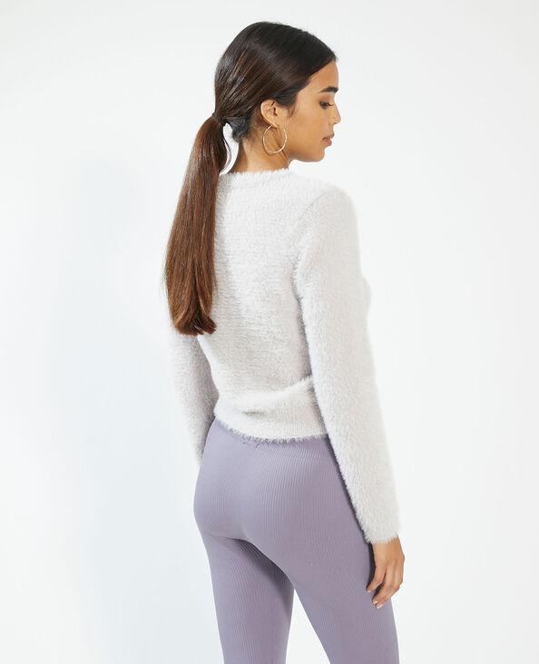 Zachte cardigan met knopen violet - Pimkie