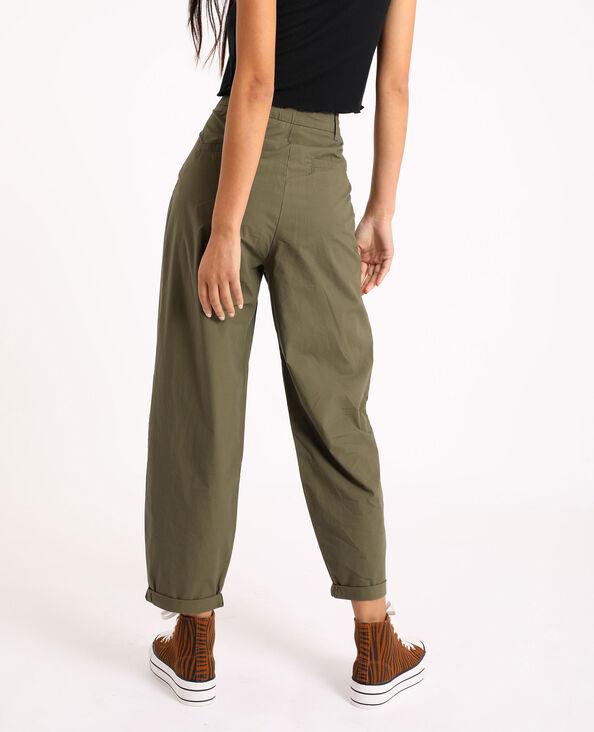 Pantalon slouchy vert