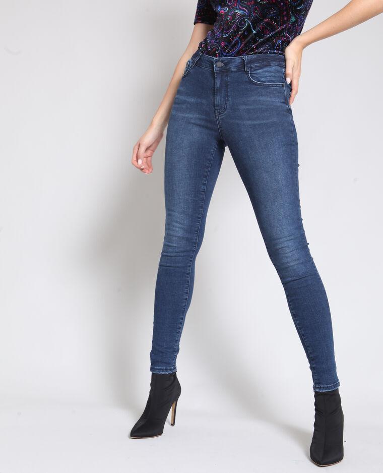 - Skinny jeans met middelhoge taille donkerblauw