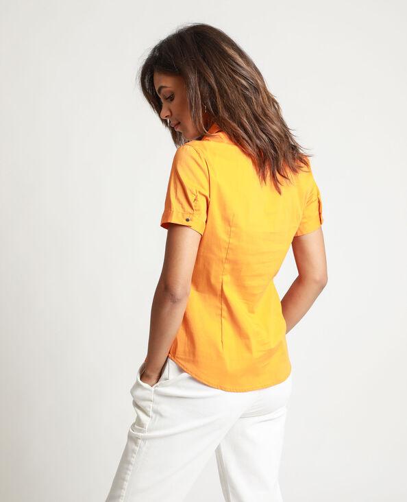 Blouse met korte mouwen oranje