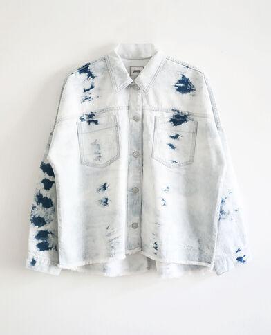 Surchemise tie & dye bleu