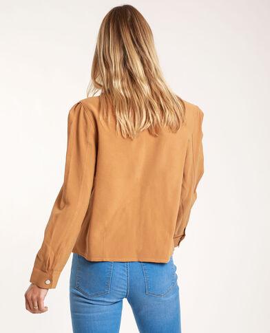 Chemise droite camel