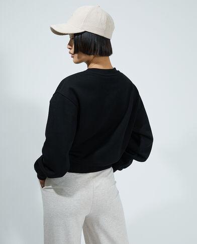 Sweat molleton noir - Pimkie