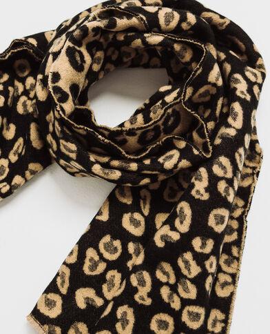 Echarpe léopard noir
