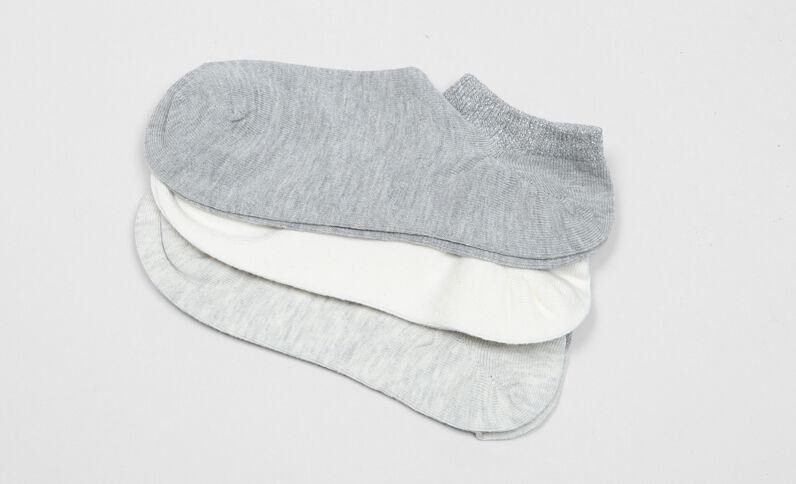 Lurex enkelsokken gebroken wit