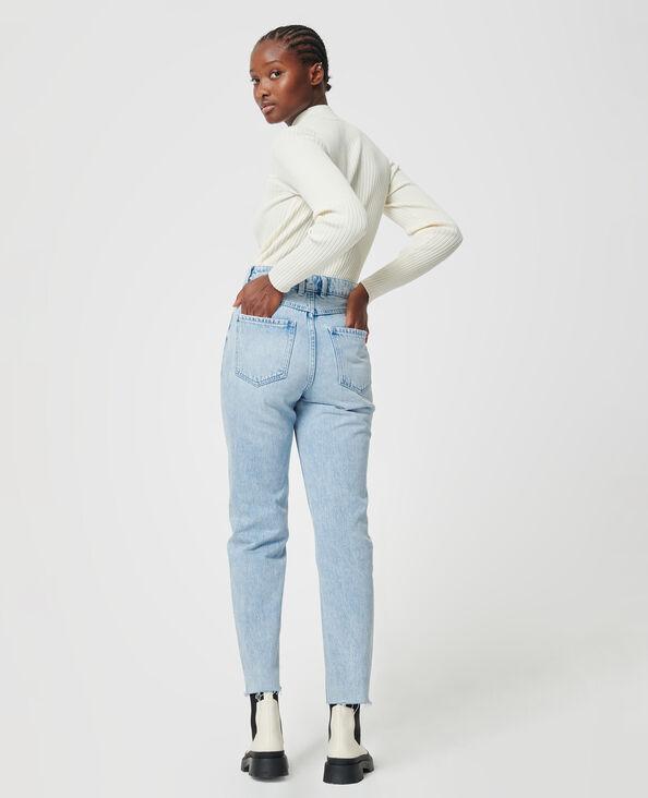 Jeans met hoge taille Lichtblauw - Pimkie