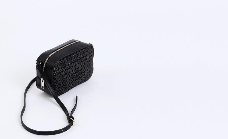 Klein gevlochten tasje zwart