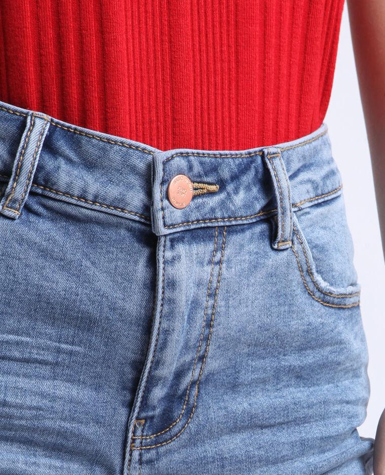 Jean push up mid waist bleu délavé