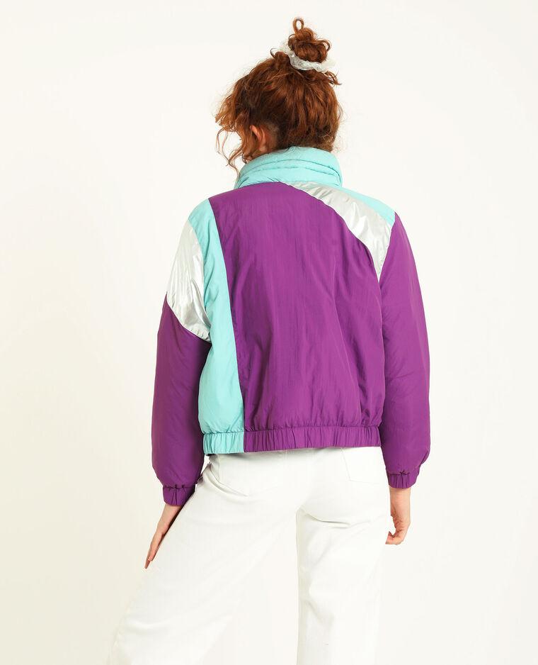 Blouson colorblock violet
