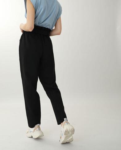 Broek met hoge taille zwart - Pimkie