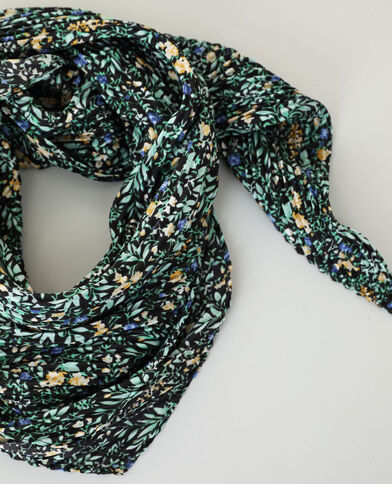 Geplooid sjaaltje zwart