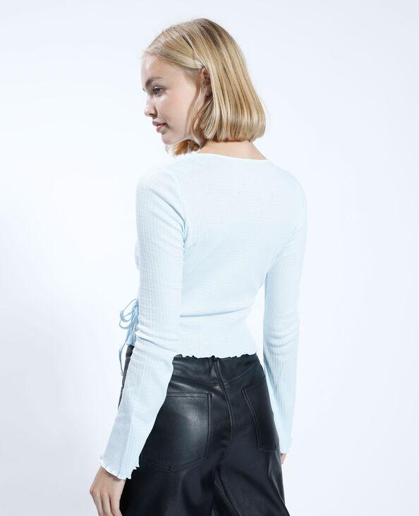 T-shirt croisé bleu - Pimkie