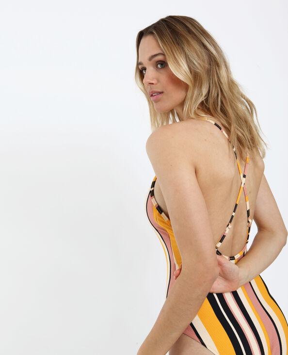 Gestreept badpak geel