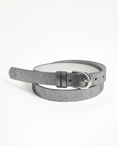 Glanzende riem grijs