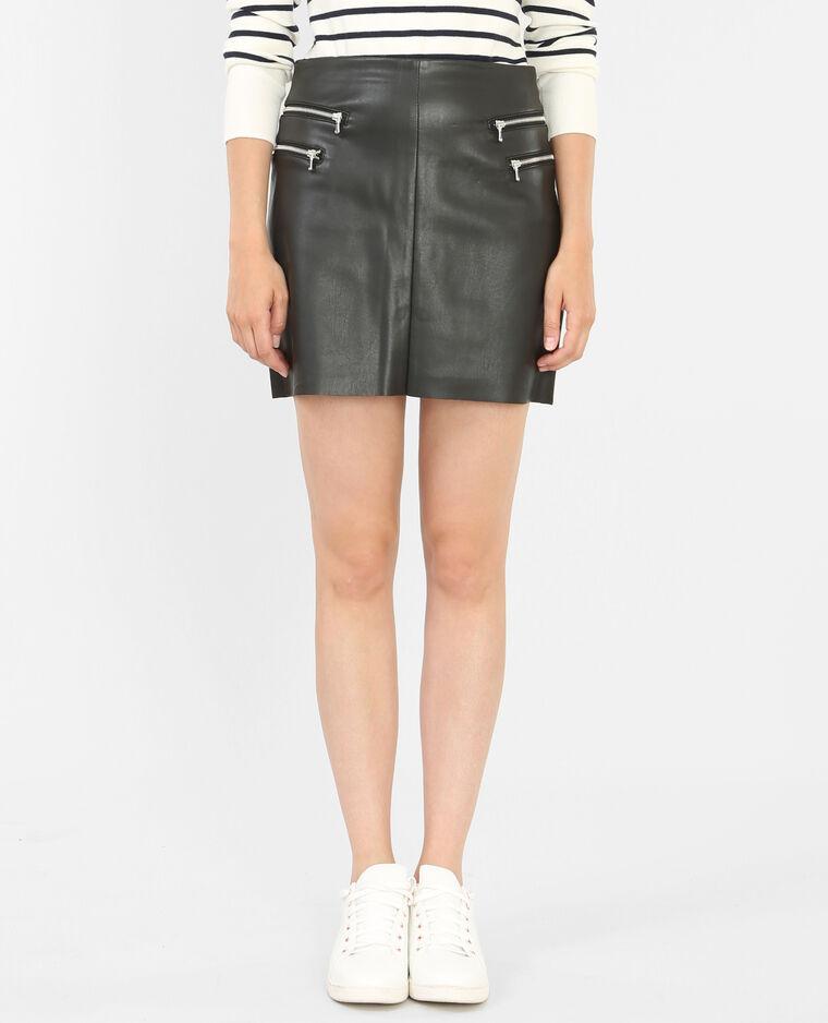 Jupe simili cuir zippée noir - 690228899A08   Pimkie 780d9971500d