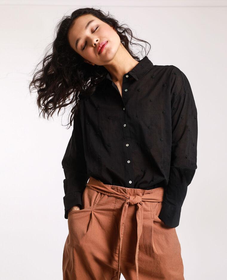 Chemise à motifs noir