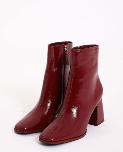 Bottines vernies bordeaux