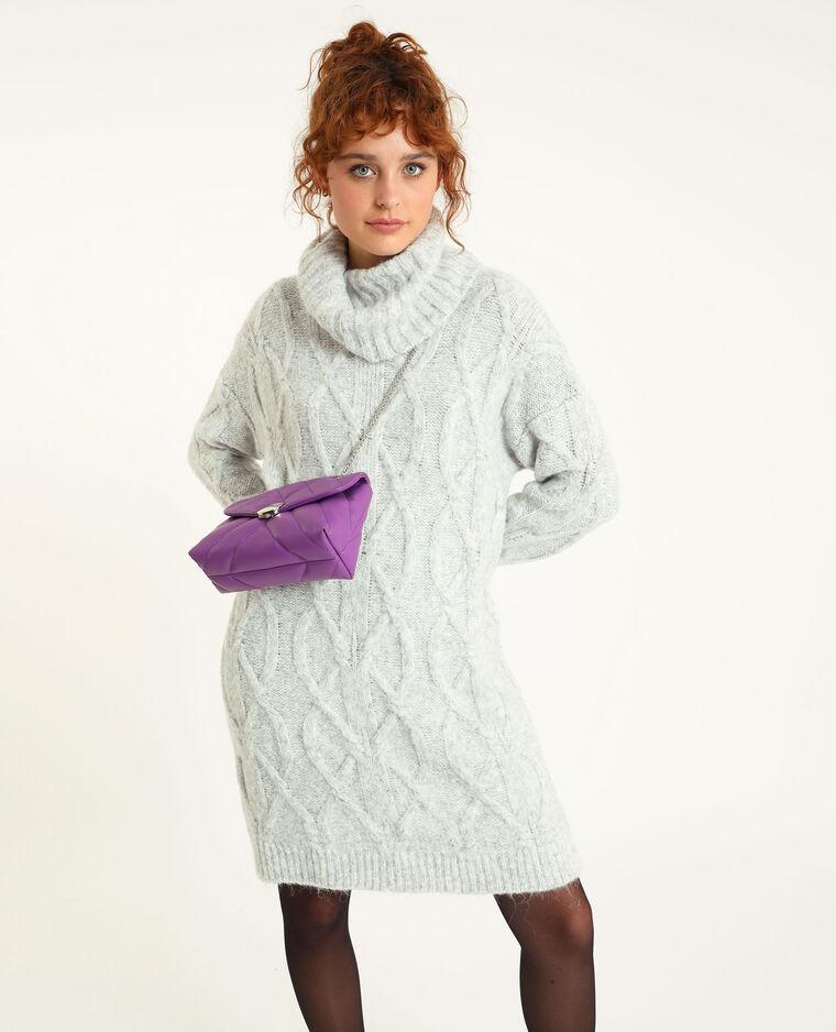 Robe pull torsadé blanc cassé - Pimkie