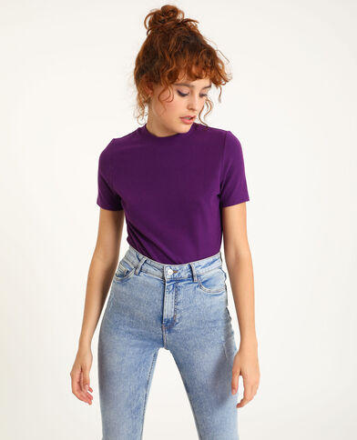 T-shirt met korte mouwen violet