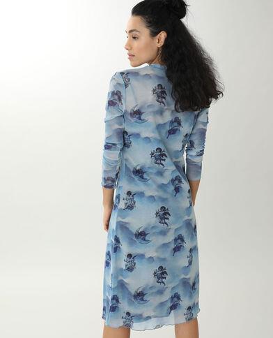 Doorzichtige jurk blauw