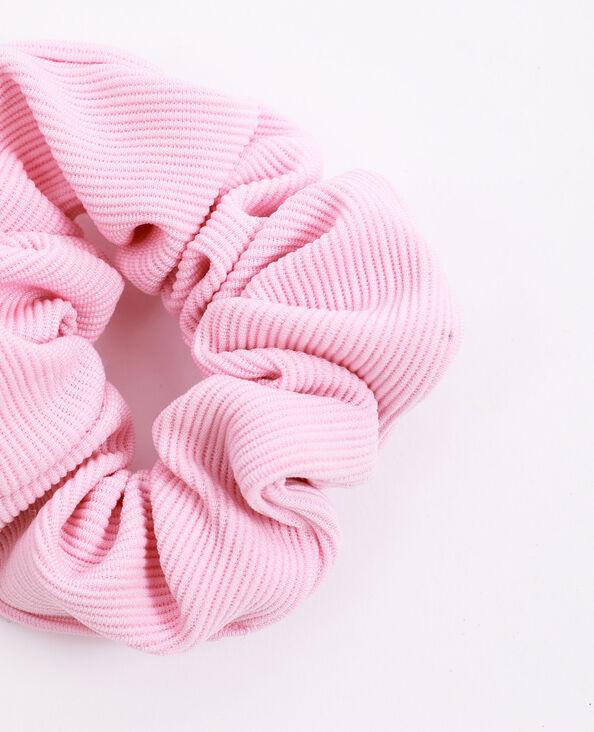 Scrunchie met textuur roze