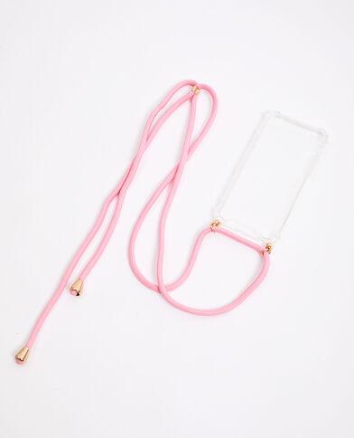 iPhone-hoesje met koordje roze