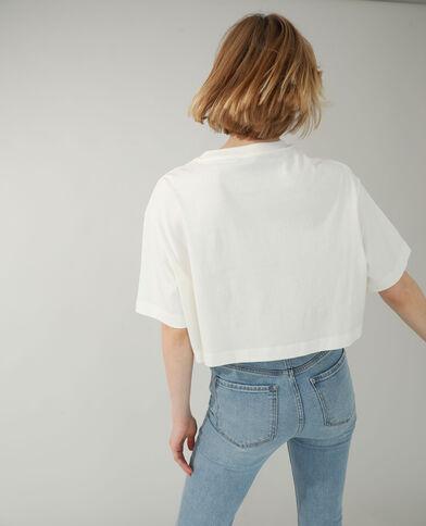 T-shirt cropped blanc cassé - Pimkie