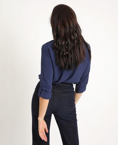 Hemd met zakken marineblauw