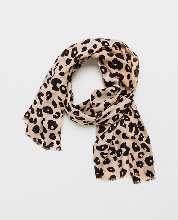 Sjaaltje met luipaardprint zwart