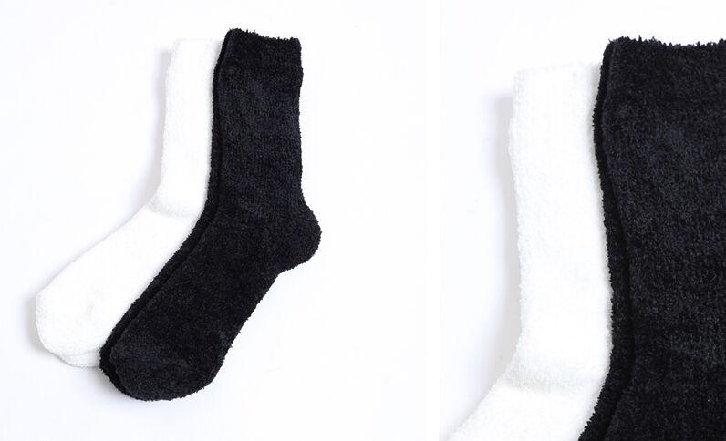 Set van zachte sokken zwart