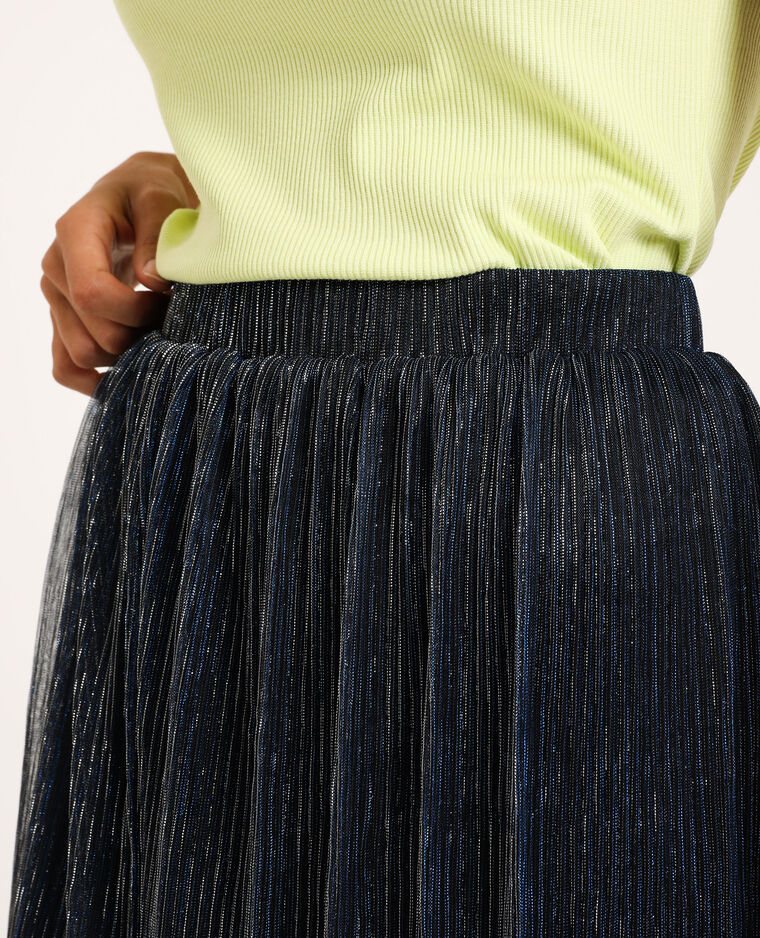 Korte glanzende rok blauw - Pimkie