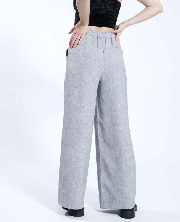 Wide leg broek gemêleerd grijs - Pimkie