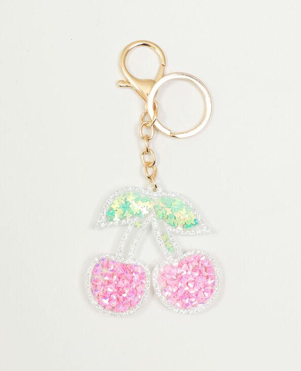 Sleutelhanger met kersen roze - Pimkie