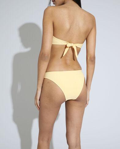 Bikinislip van ribstof bleekgeel - Pimkie