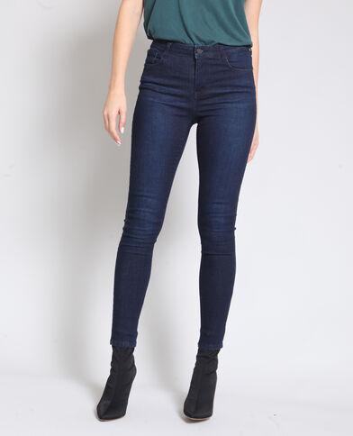 Skinny jeans met hoge taille donkerblauw