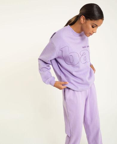 Sweater met borduursels vioolpaars