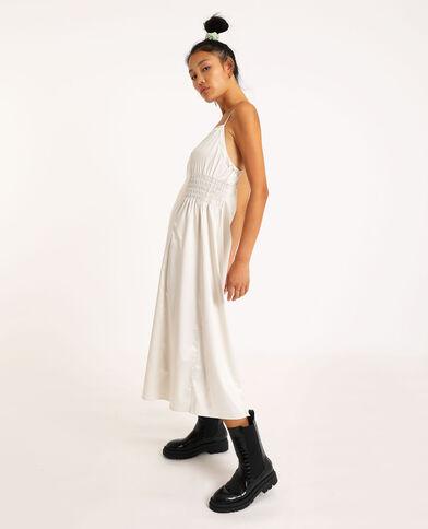 Lange satijnachtige jurk grijs
