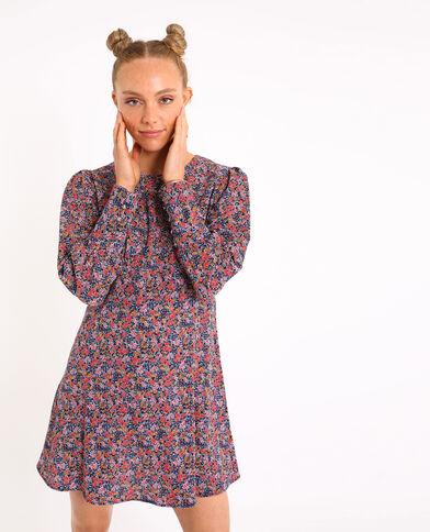 Petite robe à fleurs bleu marine