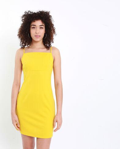 Strakke jurk geel