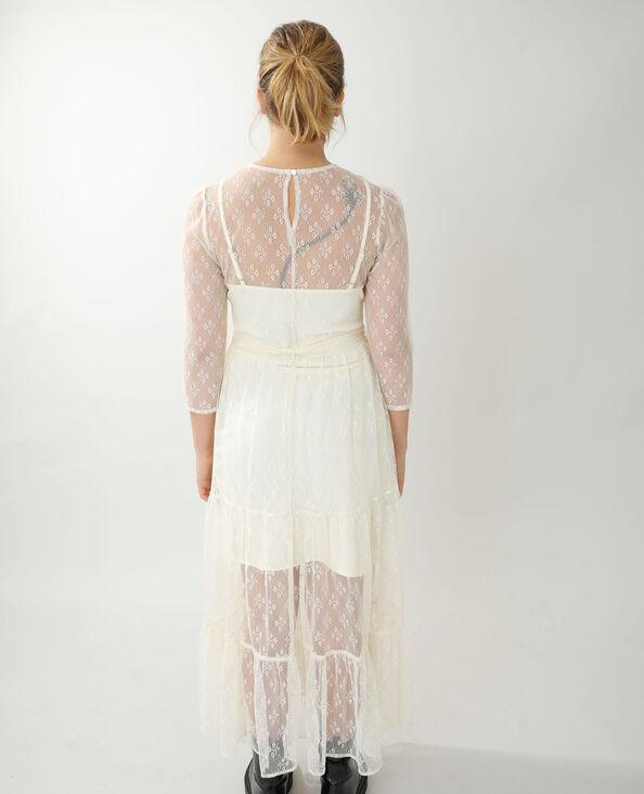 Lange jurk van kant wit - Pimkie