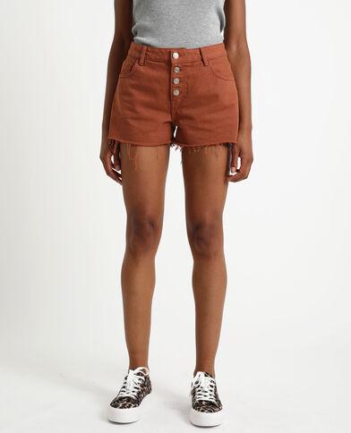 Short en jean marron